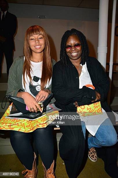 Jerzey Dean and Whoopi Goldberg attend Jeremy Scott during MADE Fashion Week Spring 2015 at Milk Studios on September 10 2014 in New York City