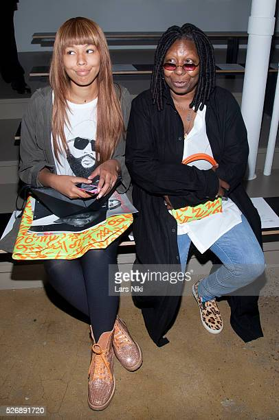 Jerzey Dean and Whoopi Goldberg attend the Jeremy Scott fashion show during New York Fashion Week SS15 at Milk Studios in New York City �� LAN