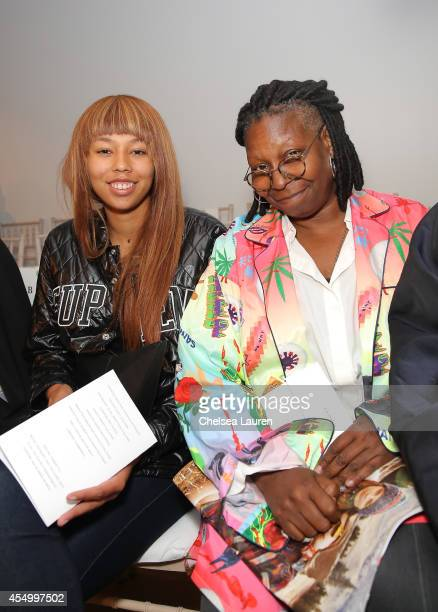 Jerzey Dean and Whoopi Goldberg attend the Zac Posen fashion show during MercedesBenz Fashion Week Spring 2015 on September 8 2014 in New York City