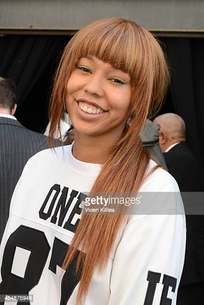 Jerzey Dean attends the Tracy Reese fashion show during MercedesBenz Fashion Week Spring 2015 at Art Beam on September 7 2014 in New York City