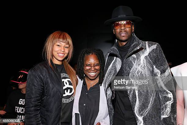 Jerzey Dean Whoopi Goldberg and 2 Chainz attend the Skingraft fashion show during MercedesBenz Fashion Week Spring 2015 at The Pavilion at Lincoln...