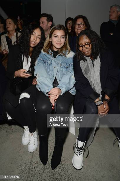 Jerzey Dean Whoopi Goldberg and guest attend the Prabal Gurung front row during New York Fashion Week The Shows at Gallery I at Spring Studios on...