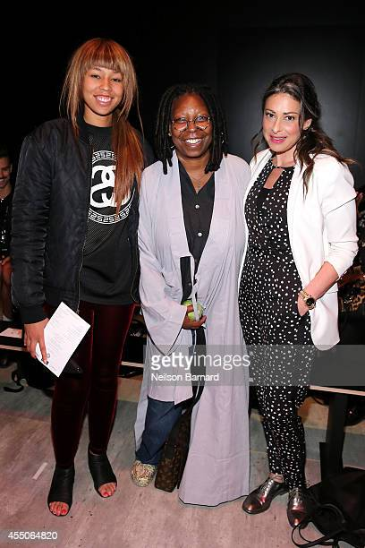 Jerzey Dean Whoopi Goldberg and Stacy London attend the Skingraft fashion show during MercedesBenz Fashion Week Spring 2015 at The Pavilion at...