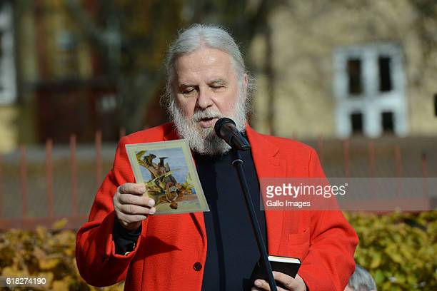 Jerzy Illg attends the ceremony of planting Wislawa Szymborskaâs acacia on October 24 2016 near Dworek Lowczego in Krakow Poland Szymborska the...