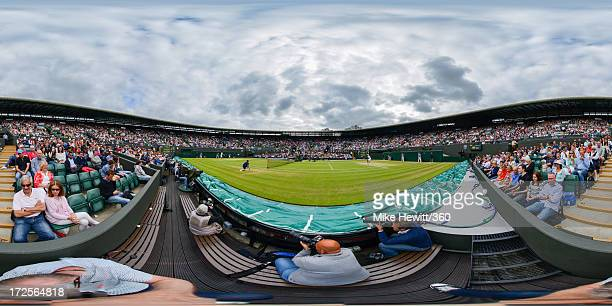 Jerzy Janowicz of Poland hits a backhand return against Lukasz Kubot of Poland during their Gentlemen's Singles quarterfinal match on day nine of the...