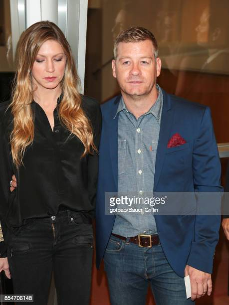 Jes Macallan and Nic Bishop are seen on September 26 2017 in Los Angeles California