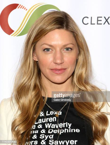 Jes Macallan attends the ClexaCon 2019 convention at the Tropicana Las Vegas on April 12 2019 in Las Vegas Nevada