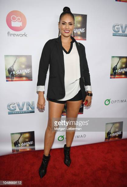 Jes Meza arrives at premiere of GVN Releasing's Shine at at Harmony Gold on October 2 2018 in Los Angeles California