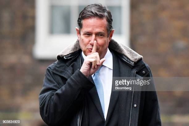 Jes Staley chief executive officer of Barclays Plc arrives in Downing Street in London UK on Thursday Jan 11 2018 UK Prime MinisterTheresa Maywill...