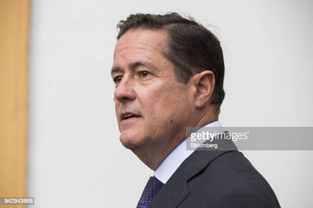 Jes Staley chief executive officer of Barclays Plc looks on during the 29th edition of The Outlook for the Economy and Finance workshop organized by...
