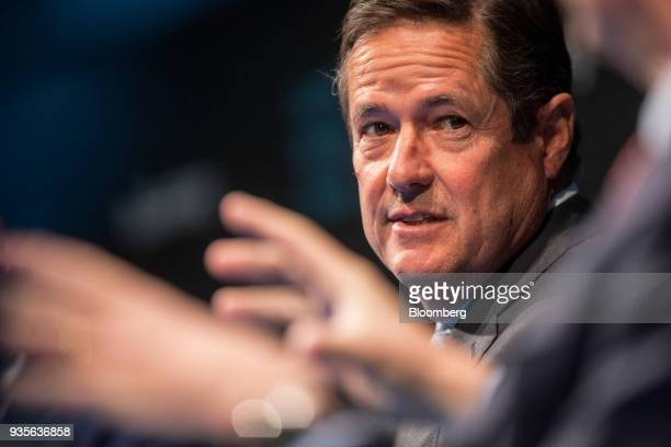 Jes Staley chief executive officer of Barclays Plc looks on while taking part in a panel discussion during the European Capital Markets at...