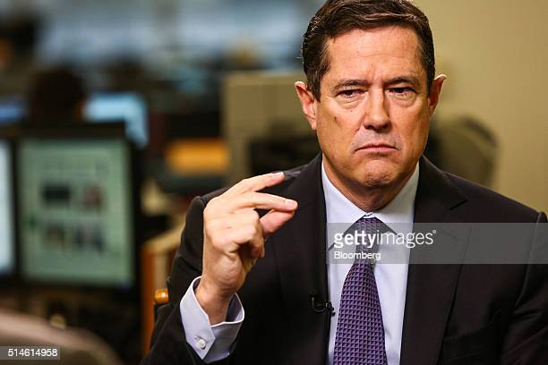 Jes Staley chief executive officer of Barclays Plc pauses during a Bloomberg Television interview in New York US on Thursday March 10 2016 Barclays...