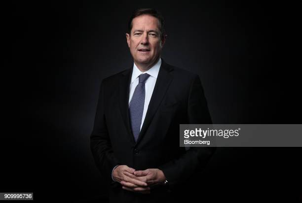 Jes Staley chief executive officer of Barclays Plc poses for a photograph following a Bloomberg Television interview on day three of the World...