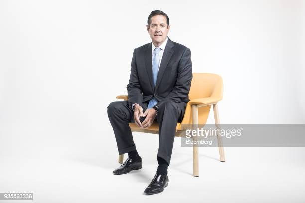 Jes Staley chief executive officer of Barclays Plc poses for a photograph before a Bloomberg Television interview in London UK on Wednesday March 21...