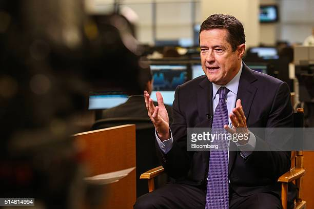 Jes Staley chief executive officer of Barclays Plc speaks during a Bloomberg Television interview in New York US on Thursday March 10 2016 Barclays...