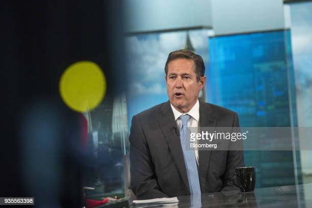 Jes Staley chief executive officer of Barclays Plc speaks during a Bloomberg Television interview in London UK on Wednesday March 21 2018 Staleysaid...