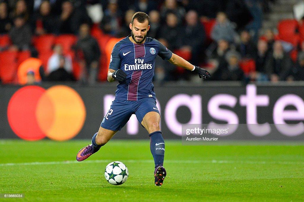 Jese of Paris Saint-Germain kicks the ball during the UEFA Champions League match between Paris Saint-Germain and FC Basel 1893 at Parc des Princes on October 19, 2016 in Paris, France.