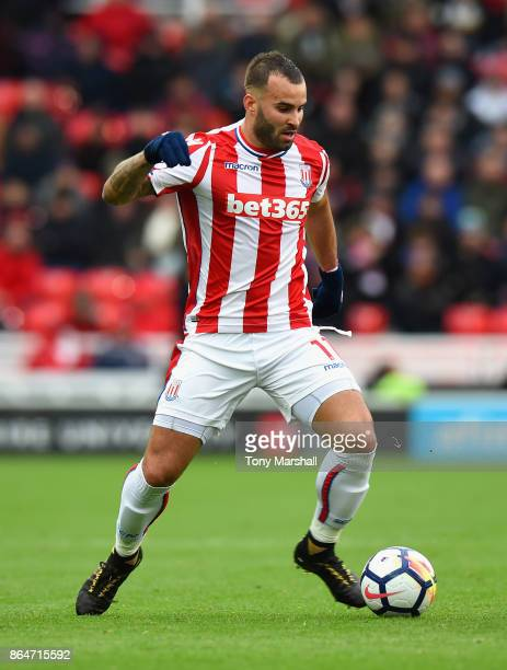 Jese of Stoke City during the Premier League match between Stoke City and AFC Bournemouth at Bet365 Stadium on October 21 2017 in Stoke on Trent...
