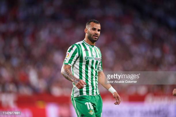 Jese Rodriguez of Real Betis Balompie looks on during the La Liga match between Sevilla FC and Real Betis Balompie at Estadio Ramon Sanchez Pizjuan...