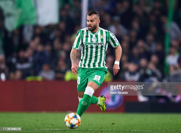Jese Rodriguez of Real Betis in action during the Copa del Semi Final first leg match between Real Betis and Valencia CF at Estadio Benito Villamarin...