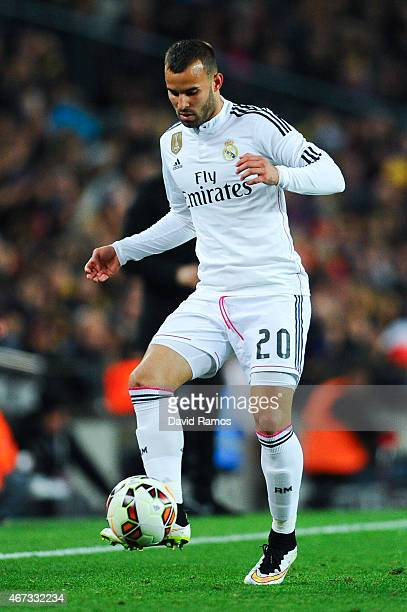 Jese Rodriguez of Real Madrid CF runs with the ball during the La Liga match Between FC Barcelona and Real Madrid CF at Camp Nou on March 22 2015 in...