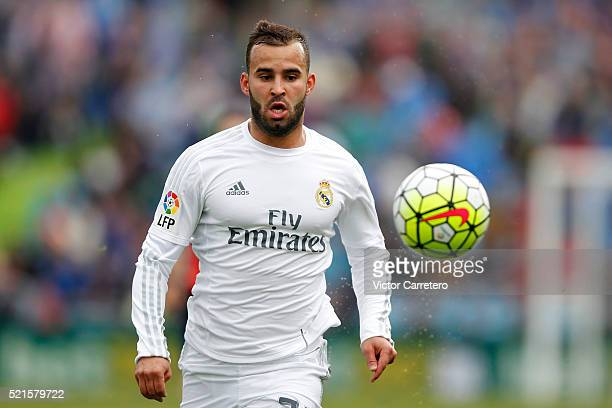 Jese Rodriguez of Real Madrid in action during the La Liga match between Getafe CF and Real Madrid CF at Coliseum Alfonso Perez on April 16 2016 in...
