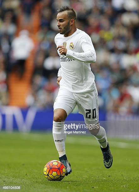 Jese Rodriguez of Real Madrid in action during the La Liga match between Real Madrid CF and UD Las Palmas at Estadio Santiago Bernabeu on October 31...