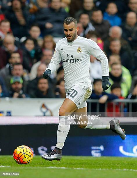 Jese Rodriguez of Real Madrid in action during the La Liga match between Real Madrid CF and Real Sporting Gijon at Estadio Santiago Bernabeu on...