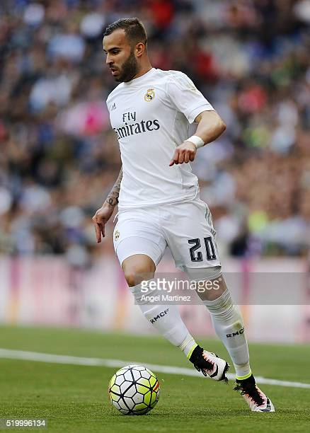 Jese Rodriguez of Real Madrid in action during the La Liga match between Real Madrid CF and SD Eibar at Estadio Santiago Bernabeu on April 9 2016 in...