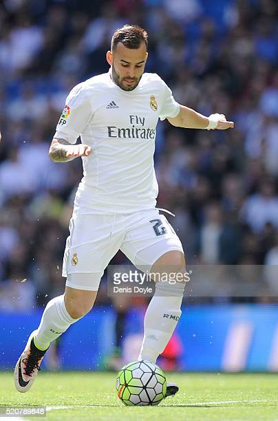 Jese Rodriguez of Real Madrid in action during the La Liga match between Real Madrid and Eibar at Estadio Santiago Bernabeu on April 9 2016 in Madrid...