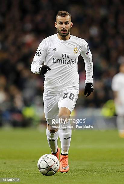 Jese Rodriguez of Real Madrid in action during the UEFA Champions League Round of 16 Second Leg match between Real Madrid CF and AS Roma at Estadio...