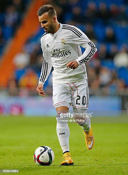 Jese Rodriguez of Real Madrid in actions during the Copa del Rey round of 32 second leg match between Real Madrid and UD Cornella at Estadio Santiago...