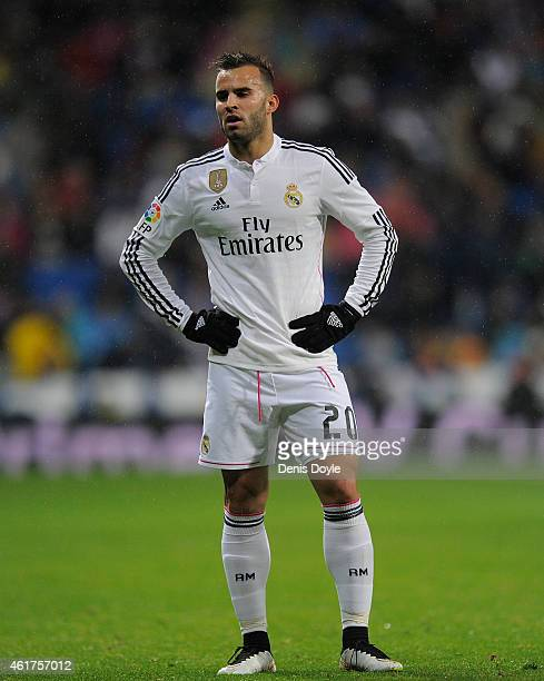 Jese Rodriguez of Real Madrid looks on during the Copa del Rey Round of 16 Second leg match between Real Madrid and Atletico de Madrid at Estadio...