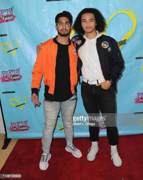 Jeshua Farmer and Reeve Davis attend the Release Party For Dani Cohn And Mikey Tua's Song Somebody Like You held at The Industry Loft on June 8 2019...