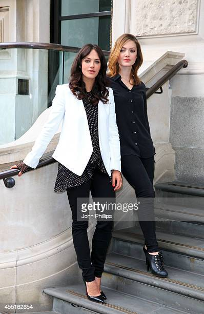 Jesica Brown Findlay and Holliday Grainger attend a photocall for The Riot Club at Corinthia Hotel London on September 10 2014 in London England
