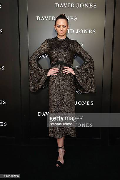 Jesinta Campbell arrives ahead of the David Jones Christmas cocktail party at the new Barangaroo store on November 2 2016 in Sydney Australia