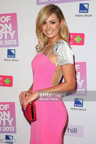 Jesinta Campbell arrives at the 30 Days of Fashion and Beauty Launch Party at Town Hall on August 28 2013 in Sydney Australia
