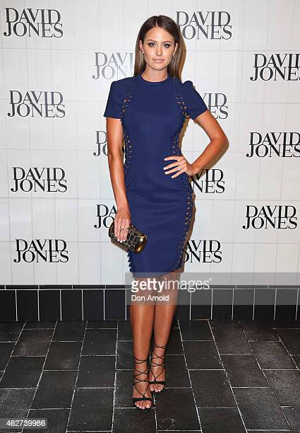 Jesinta Campbell arrives at the David Jones Autumn/Winter 2015 Collection Launch at David Jones Elizabeth Street Store on February 4 2015 in Sydney...