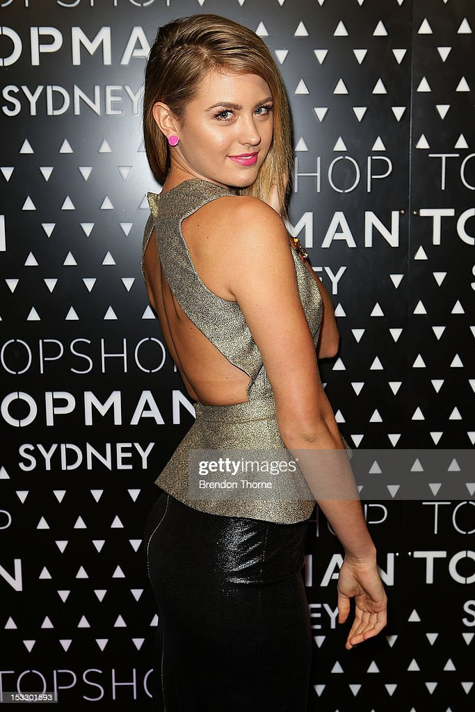 Jesinta Campbell arrives for the Topshop Topman Sydney launch party on October 3, 2012 in Sydney, Australia.