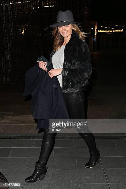 Jesinta Campbell arrives in Sydney on September 5 2014 in Sydney Australia