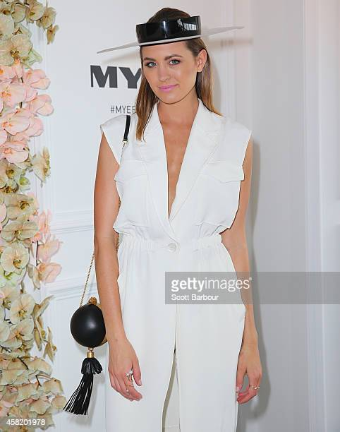 Jesinta Campbell at the Myer Marquee on Derby Day at Flemington Racecourse on November 1 2014 in Melbourne Australia