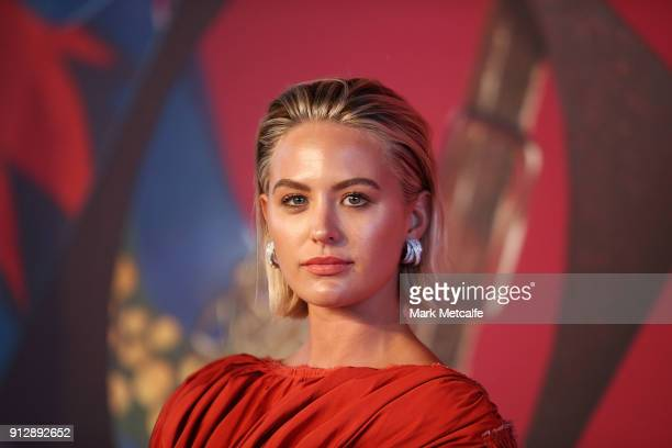 Jesinta Campbell attends the inaugural Museum of Applied Arts and Sciences Centre for Fashion Bal at Powerhouse Museum on February 1 2018 in Sydney...