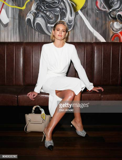 Jesinta Franklin arrives ahead of a dinner for Marc Jacobs Beauty on January 18 2018 in Sydney Australia