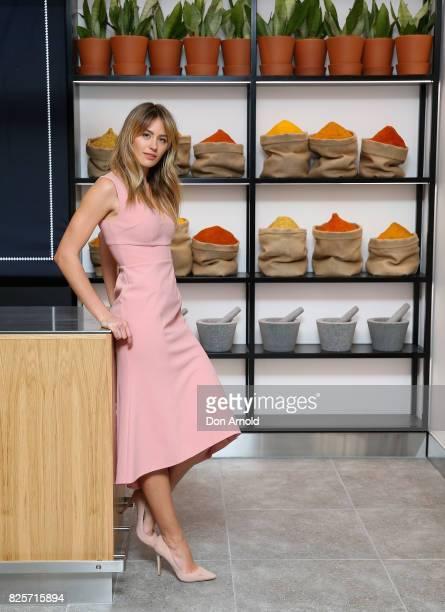 Jesinta Franklin attends the launch of the new David Jones Bondi Junction Food Hall on August 3 2017 in Sydney Australia