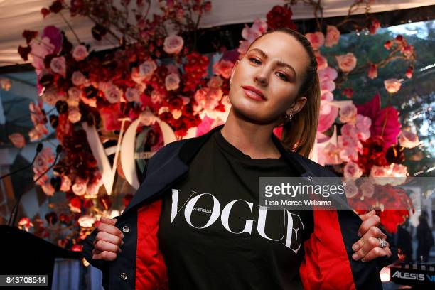 Jesinta Franklin attends the launch of Vogue American Express Fashion's Night Out 2017 on September 7 2017 in Sydney Australia