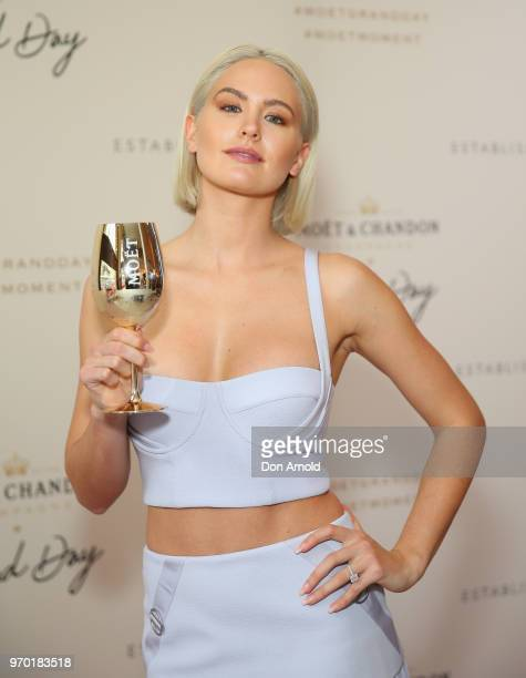 Jesinta Franklin attends the Moet Grand Brunch on June 9 2018 in Sydney Australia