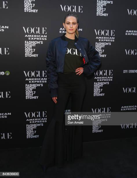 Jesinta Franklin during Vogue American Express Fashion's Night Out 2017 on September 7 2017 in Sydney Australia