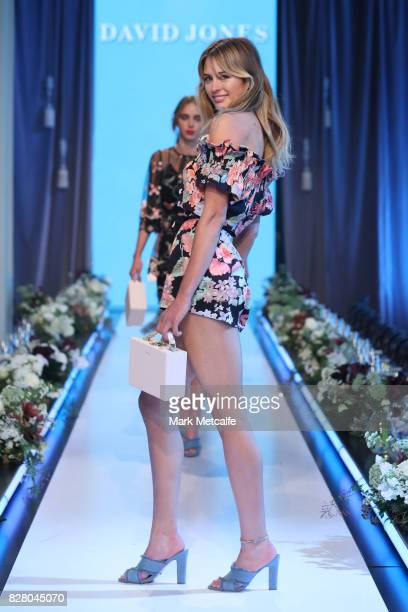 Jesinta Franklin walks the runway in a design by Alice McCall during rehearsal ahead of the David Jones Spring Summer 2017 Collections Launch at...