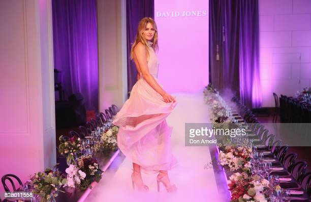 Jesinta Franklin wears Scanlan and Theodore as she walks the runway during rehearsals ahead of the David Jones Spring Summer 2017 Collections Launch...