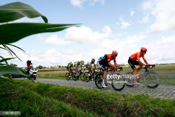 Jesper Asselman of The Netherlands and Team Roompot-Charles / Josef Cerny of Czech Republic and CCC Team / Thomas Sprengers of Belgium and Team Sport...